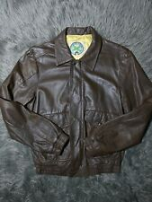 Vintage 80s 39 Airdrome Men's Leather Flight Jacket Size 36/Small