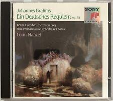 LORIN MAAZEL : JOHANNES BRAHMS : EIN DEUTSCHES REQUIEM - [ CD ALBUM ]