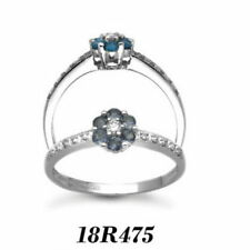 Anillos de joyería con diamantes flor