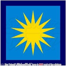 """MALAYSIA Royal Malaysian AirForce TUDM Former Roundel Decal Sticker, 4"""" (100mm)"""