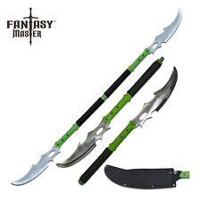 Combat Naginata Double Bladed Fighting Zombie Slicer Sword