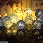 20 COTTON BALL FAIRY LED STRING LIGHTS WEDDING PARTY PATIO CHRISTMAS DECOR AU