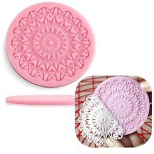 Silicone Lace Mat Fondant Mould Cupcake Cake Decorating Baking Mould Tool