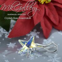 925 Sterling Silver Pendant * STAR * 20mm Crystal AB Crystals from Swarovski®