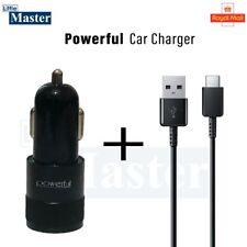 Cargador de coche USB Twin 2 Puerto Dual rápido pico de 2.1A (2.4) 12V con Cable USB de tipo C