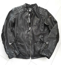 TIGHA Herren Biker Lederjacke Nero Black Sheep Leather Gr. XXL UVP 299€