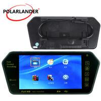 "7"" HD TFT LCD Mp5/FM/USB Bluetooth Rear View Mirror Slot Car Monitor Support TF"
