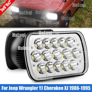 "For Jeep Wrangler YJ Cherokee XJ 1986-1995 7x6"" LED Sealed Beam Square Headlight"
