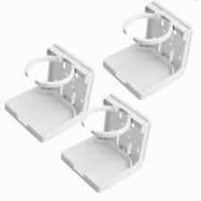 ABS Foldable Cup Holder Beverage Drink Holder White For RV Van Truck Boat 3PCS