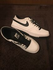NIKE COURT FORCE LOW MEN'S WHITE/BLACK CASUAL SHOES, Size 10.5 313561-107