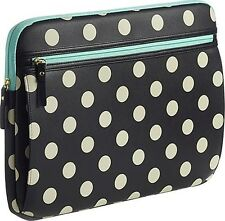 """Studio C - Hot to Trot Laptop Sleeve - Black/Ivory/Mint Laptops up to a 14"""""""