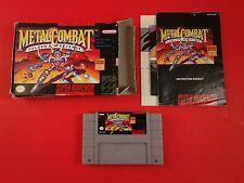 Metal Combat Falcon's Revenge [CIB Complete in Box] (Super Nintendo SNES)