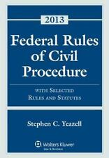 Federal Rules of Civil Procedure with Selected Statutes, Cases and other Materia
