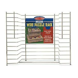 Melissa & Doug Deluxe Metal Wire Puzzle Storage Rack for 12 Small and Large