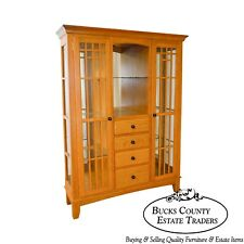 Mission Oak Arts U0026 Crafts Style Curio Display Cabinet Etagere