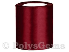25 METRES FULL REEL SATIN SASH RIBBON 100MM EXTRA WIDE 4 INCH 15 COLOURS