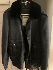 Blauer Uniform Work Jacket Removable Quilted Lining Faux Collar, Men 46L