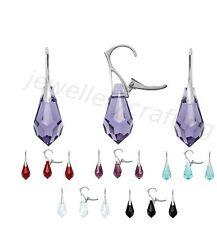Beautiful Crystal Earrings, Swarovski Teardrop - Sterling silver Drop/Dangle, Le
