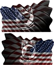 American POW MIA Flag cornhole board game vinyl graphic decals style C