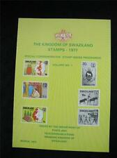 THE KINGDOM OF SWAZILAND 1977 COMMEMORATIVE STAMP ISSUE PROGRAMME VOL 1