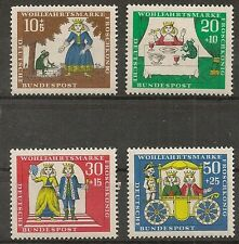 STAMP / TIMBRE ALLEMAGNE GERMANY SERIE N° 380 A 383 ** OEUVRES DE BIENFAISANCE