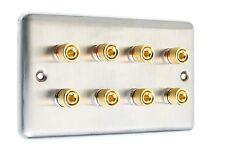 ACCIAIO Inossidabile 4.0 Surround Sound Speaker Wall Face Plate 8 POSTI vincolante