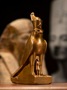 Egypt patron saint of pharaoh Horus protect Nectanebo II Bronze statue  Replica