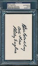 Bill Bradley Texas Signed Index Card Autograph Auto PSA/DNA *84712