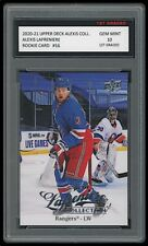 ALEXIS LAFRENIERE 2020-21 UPPER DECK #16 COLLECTION 1ST GRADED 10 ROOKIE CARD RC