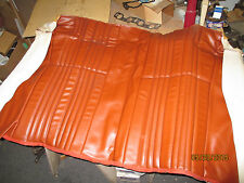 Pr.NOS Fiat#Early Spider 124/2000 Mahogany/Brown Rr.Back Seat Covers/Upholstery