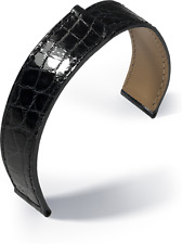 glossy suitable for Cartier Wrist watch bands Real Crocodile