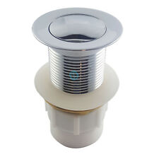 Dome Bathroom POP UP WASTE 32 or 40mm Basin Vanity Plug Brass Drain No Overflow