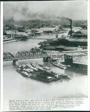 1941 Pasig River Through Heart of Manila Original Wirephoto