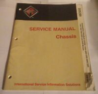 International Service Manual Chassis S08289 Group 08 DIAGNOSTIC TROUBLE CODES