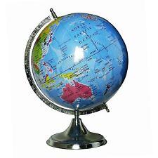 DESKTOP TABLE DECOR ROTATING GLOBES OCEAN GEOGRAPHICAL EARTH @g