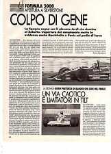 Z12 Ritaglio Clipping 1992 Formula 3000 GP Silverstone J Gene Rubens Barrichello