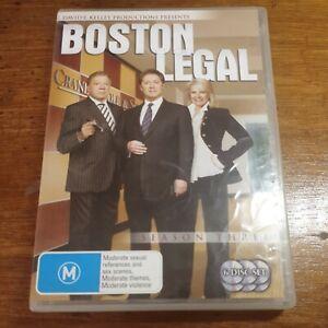 Boston Legal Season 3 Three R4 DVD Like New! FREE POST