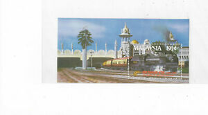 Malaysia 1985 Malayan Railway Miniature Sheet Mint