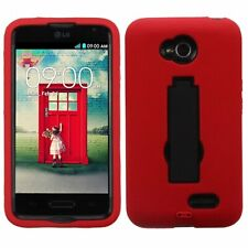 Asmyna Symbiosis Stand Protector Cover for LG Optimus Exceed Black/Red