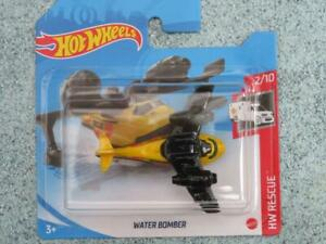 Hot Wheels 2021 #205/250 WATER BOMBER airplane yellow Black @L New Casting 2021