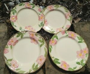 "4  FRANCISCAN DESERT ROSE 10 3/4"" Dinner Plates Dessert Mixed Vintage lot"