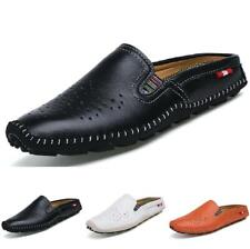 Men's Boat Loafers Shoes Slippers Hollow out Breathable Slip on Flats Soft Vogue