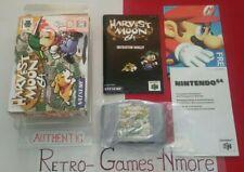 Harvest Moon 64 Nintendo 64 AUTHENTIC N64 Video Game RPG Actual pict, LOOK/READ!