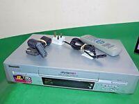 PANASONIC NV-SJ220 Video Cassette Recorder VHS VCR Silver Tape SUPER DRIVE