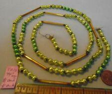 "Christmas Garland Mercury Glass Mixed 44"" Long, 1/4"" & 1.5"" Long Beads Eb33 Vint"