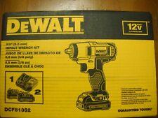 "DEWALT DCF813S2 12V MAX Li-Ion 3/8"" Impact Wrench Kit Lithium Ion New"