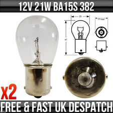 12v 21w SCC BA15s Freno/Indicatore/Inverso/Posteriore Fendinebbia Lampadine 382