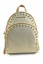 Michael Kors 35S9GAYB6B Abbey Vanilla/Acorn Signature PVC Medium Frame Out St...