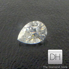 0.24 CT. Natural Pear Shape Loose Diamond Color E Clarity VVS1 Pendant Earrings