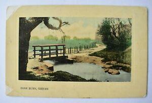 Postcard Bank Burn Girvan Ayrshire Scotland Posted 1908 Postmark